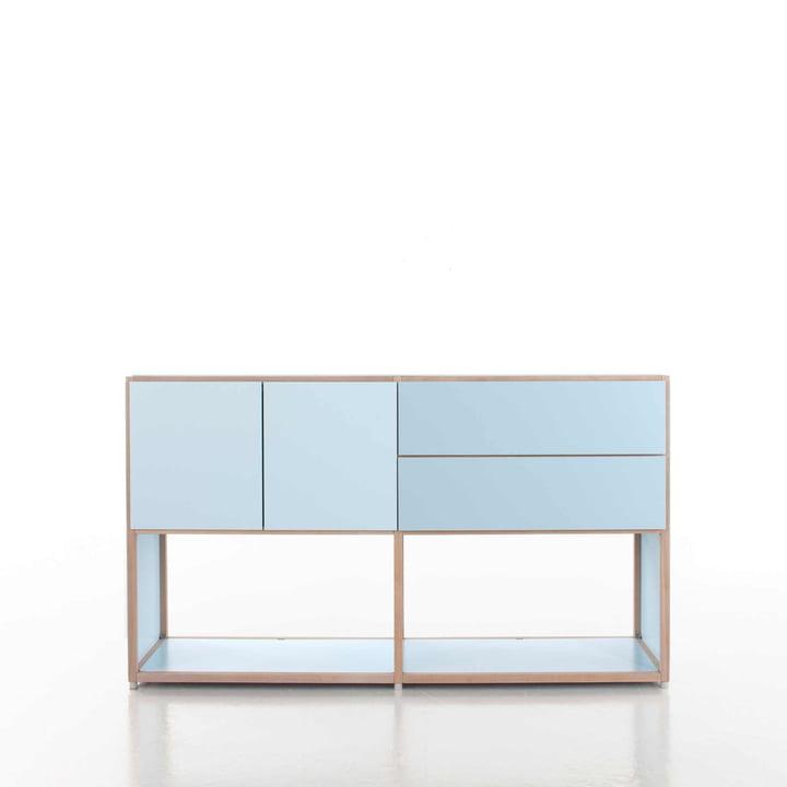 Flötotto - ADD Highboard, 2 drawers, 2 doors, blue - example