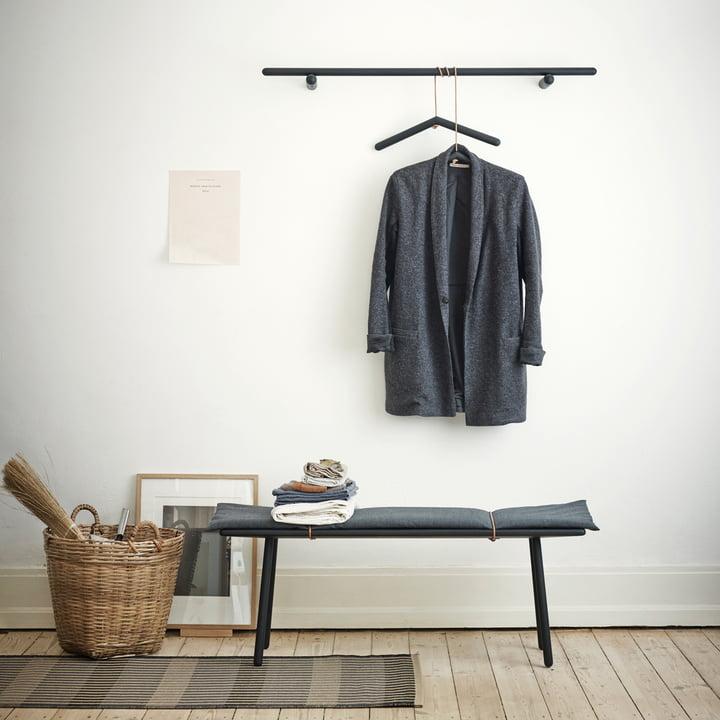 Skagerak - Georg Clothes Hanger, Bench, coat rack, black