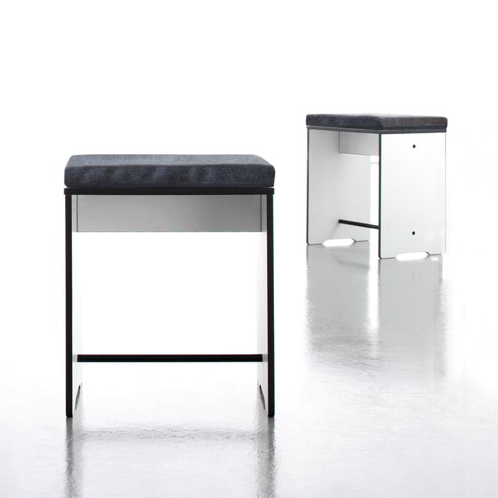 Conmoto - Riva Stool / Side Table, white