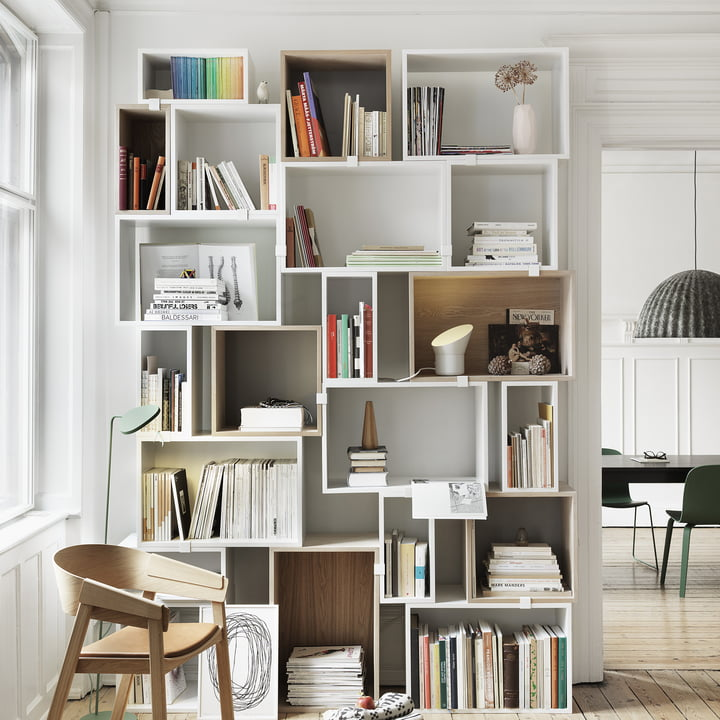 Muuto - Stacked shelving system - books