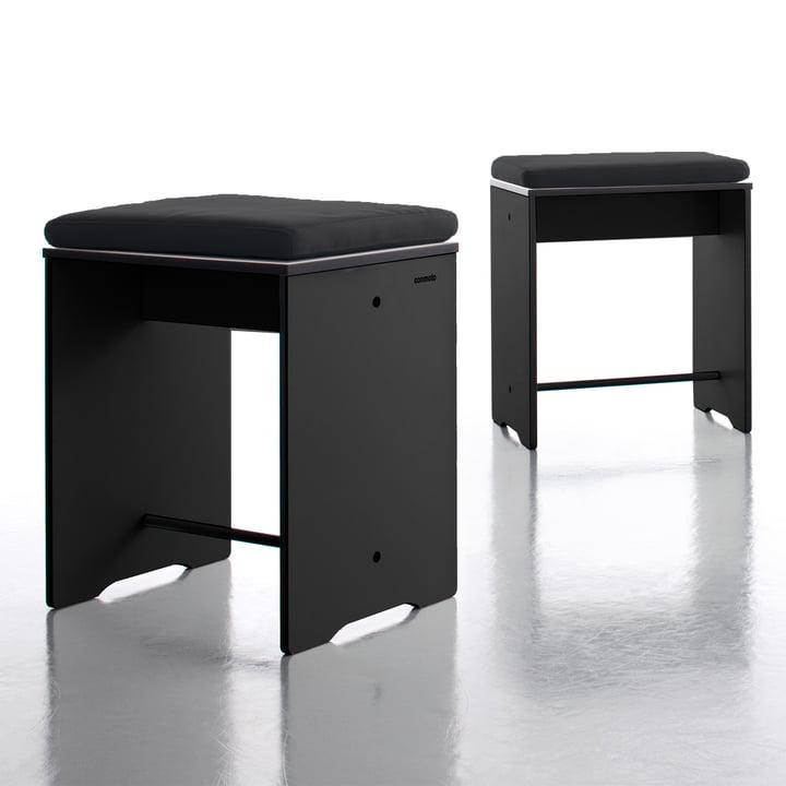 Conmoto - Riva Stool / Side table, black