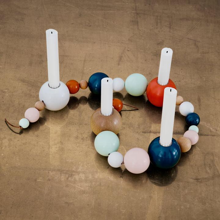 ferm Living - String Candleholder, multicoloured