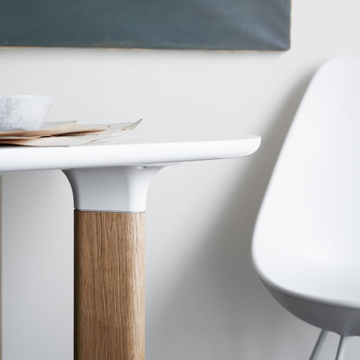 Fritz Hansen - Analog Table, white / oak