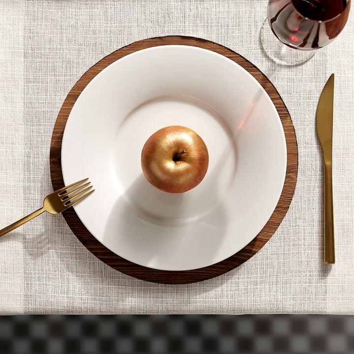 Kahla - Magic Table Service, white, bronze-coloured apple