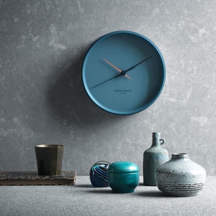 Georg Jensen - Henning Koppel wall clock graphic Blue, ambience