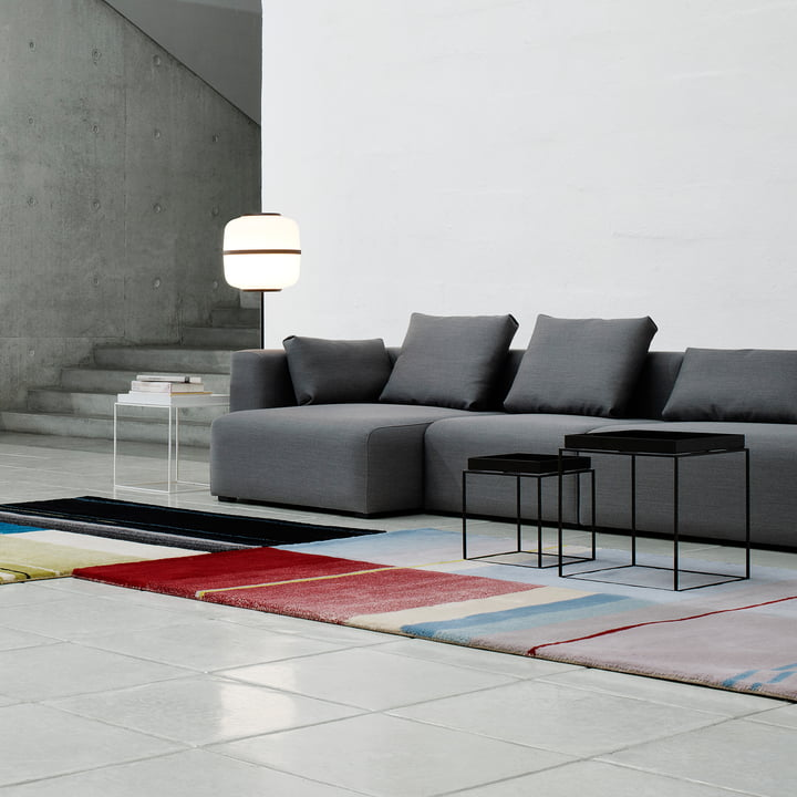 Tray table and Mags Soft Sofa by Hay