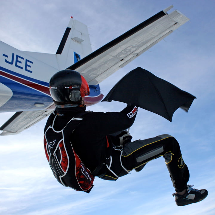 Senz - Collection 2014, skydive challange with umbrella