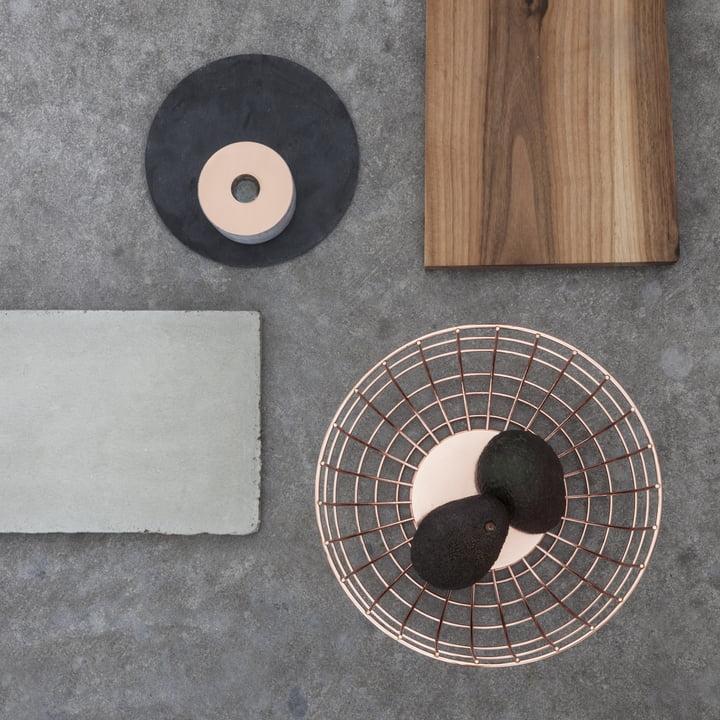 Menu - Norm Wire Bowl, copper