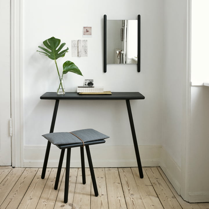 Skagerak - Georg Mirror black, with console table and stool