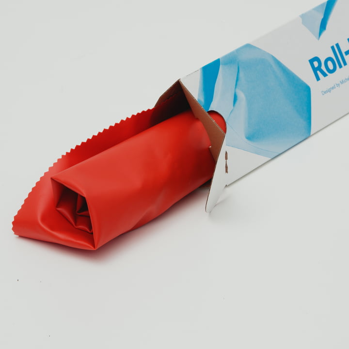 Roll-up bin from L&Z with packaging
