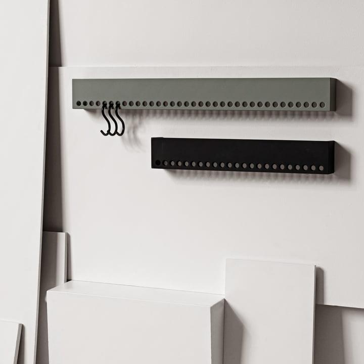 Nomess - So-Hooked Coat Rack, gray, black