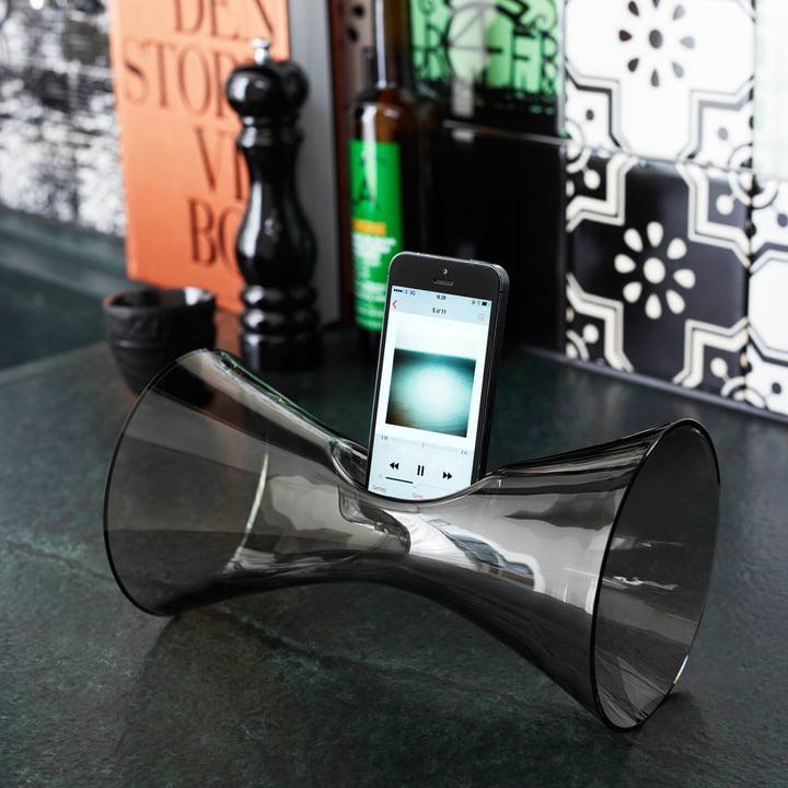 Holmegaard - Urania handy audio amplifier, smoke