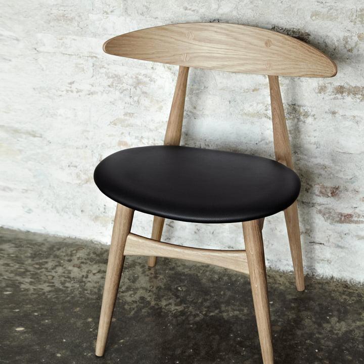 Carl Hansen - CH33, oak oiled / leather black (Loke 7150)