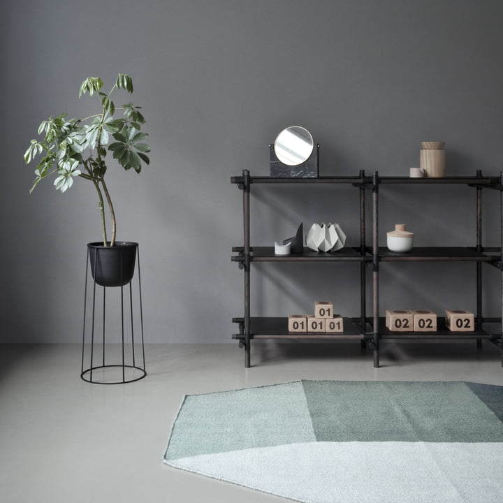 The Willenz Volume Rug by Menu in green