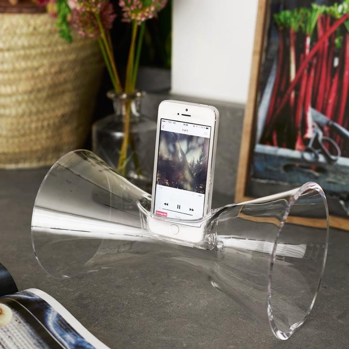 Holmegaard - Urania mobile audio amplifier, clear