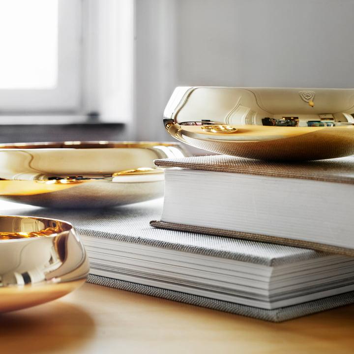 Skultuna - Ballerina Bowl brass polished, trio on books