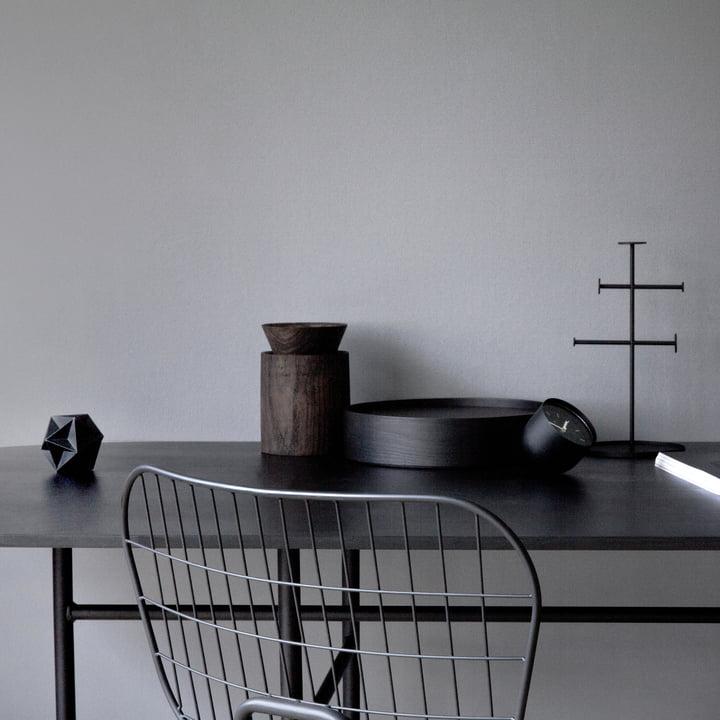 Menu - Snaregade Table, Oval, Black Veneer