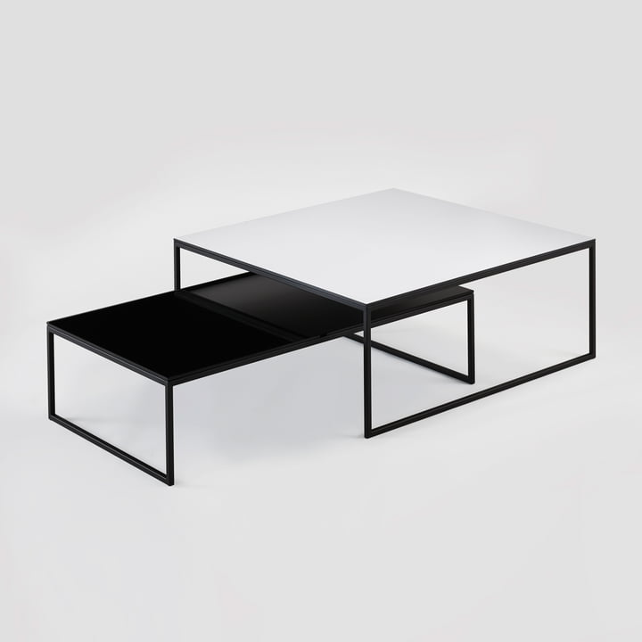 Hans Hansen - Less H 5/2 VA Coffee Table sled-base black / HPL black