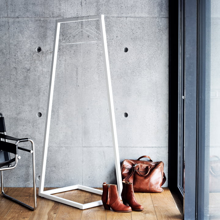 BeDesign - Lume coat stand small, white
