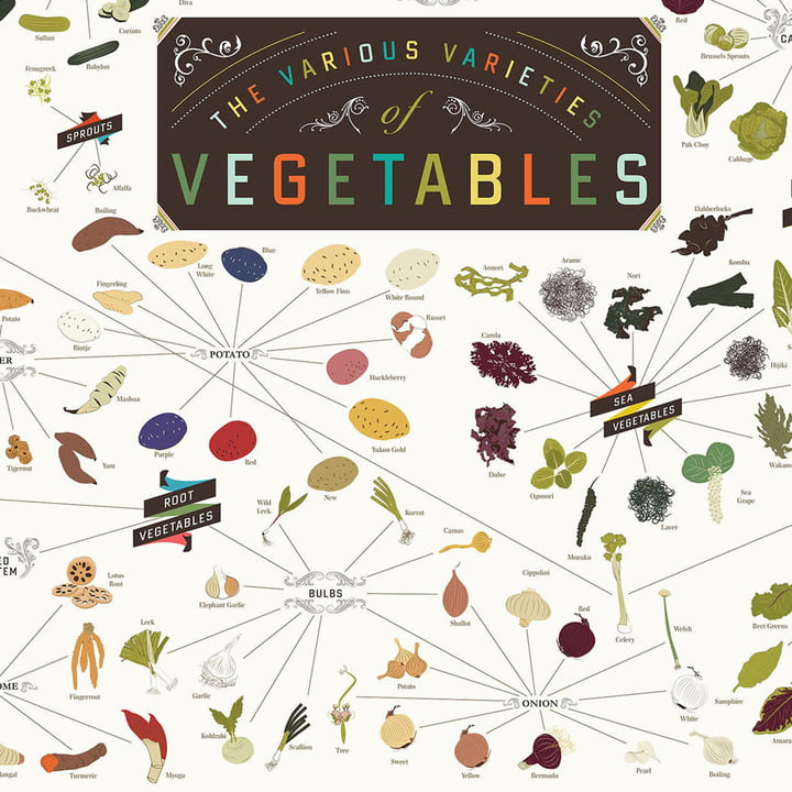 Pop Chart Lab - The Various Varieties of Vegetables