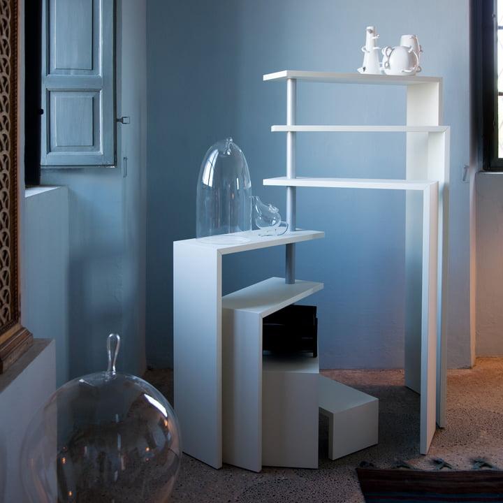 Zanotta - Joy Seven Rotating Shelf Unit, white