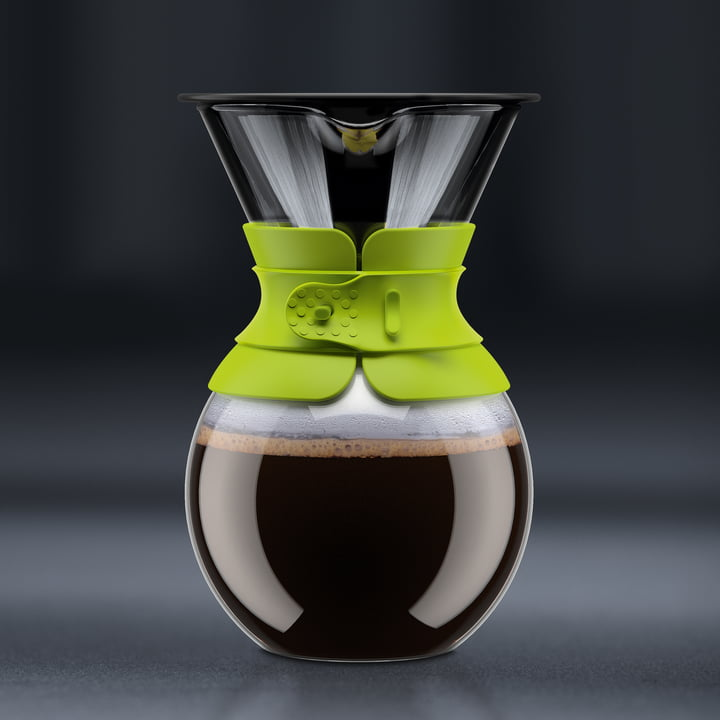 Bodum - Pour Over Coffee Maker with permanent filter, short handle, 1.0 l, lime