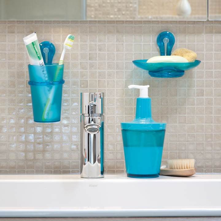 Koziol - Loop bathroom products, Caribbean blue