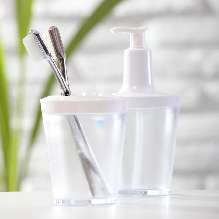 Koziol - Flow soap dispenser, transparent