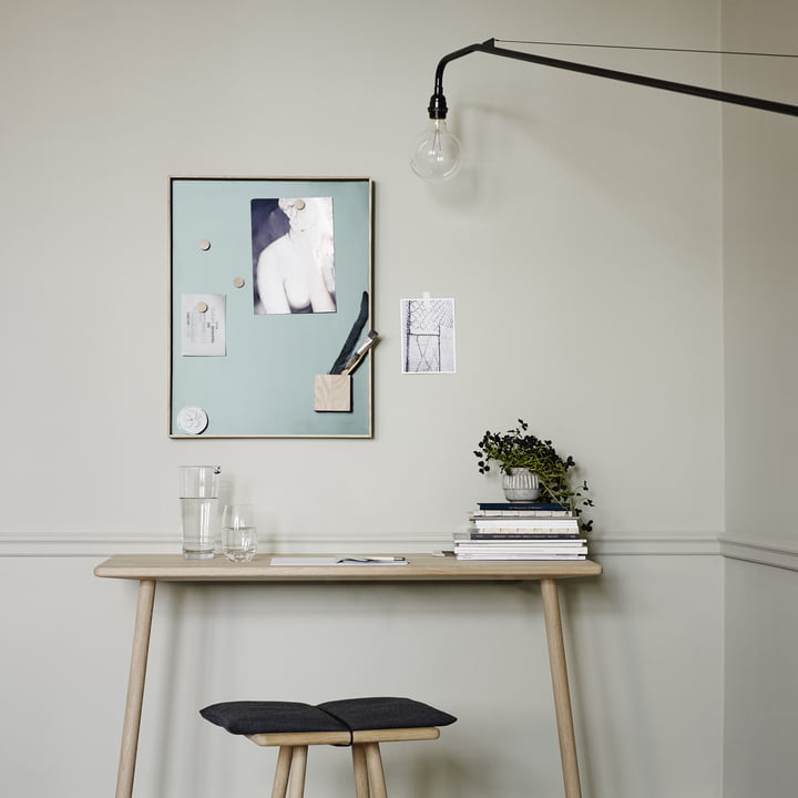 Elegant pin wall for the workspace