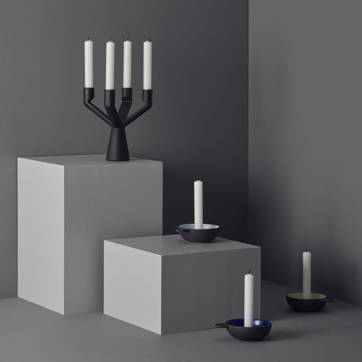 Different candleholders by Stelton