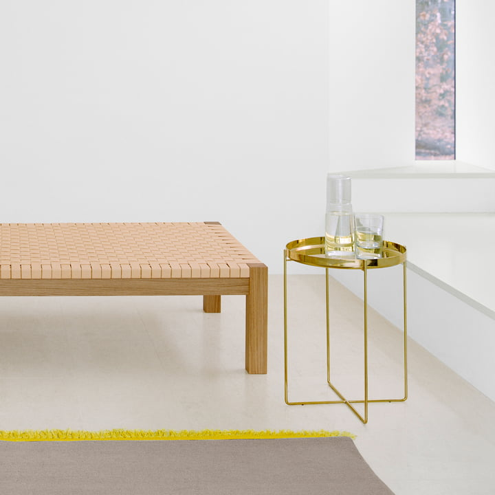 The CM05 Habibi Side Table in brass by e15