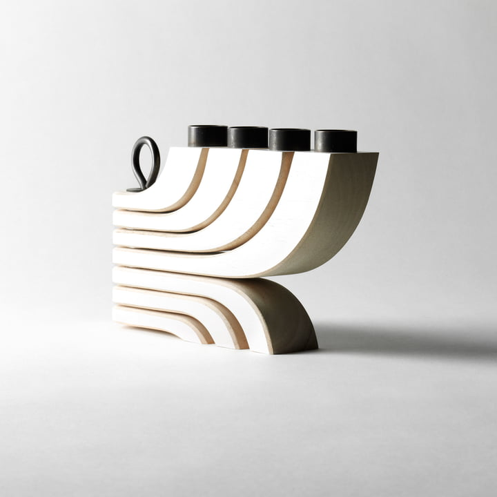 Nordic Light 4 Arms Candle Holder by Design House Stockholm in white