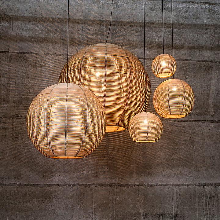 sangha pendant light by dark in the interior design shop