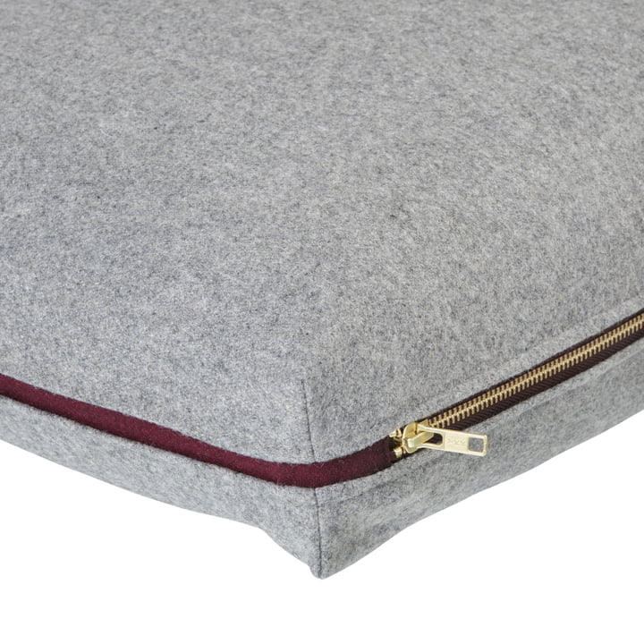 Wool cushion 60 x 40 cm by ferm Living in light grey
