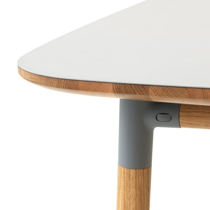 Form table by Normann Copenhagen made of oak in grey