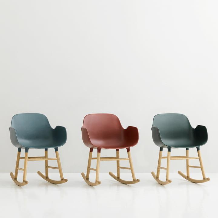 Form rocking armchair by Normann Copenhagen made of oak