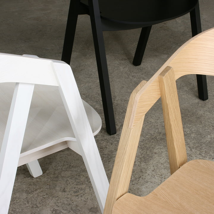 Maigrau - Nardo chair, oak natural / ash black/ ash white