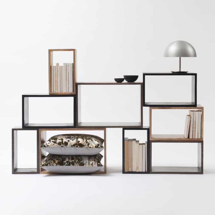 Box system group by Mater with the Dome table lamp in black