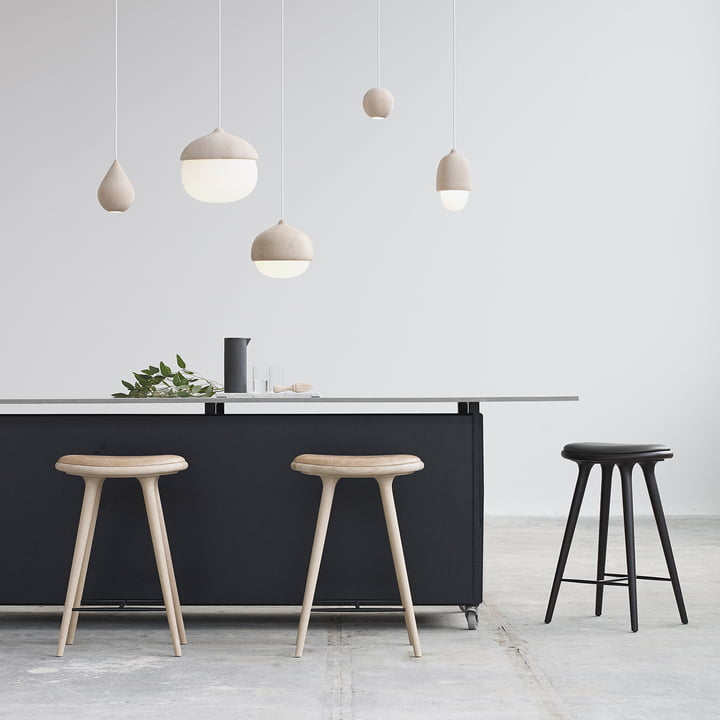 Terho pendant lamp and bar stool by Mater