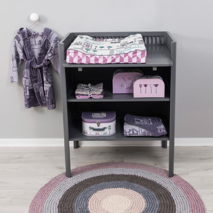 Kili changing unit in grey with the Village Collection