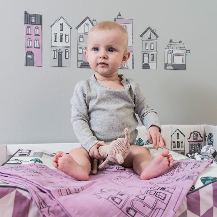 Baby burp cloths by Sebra are versatile in use