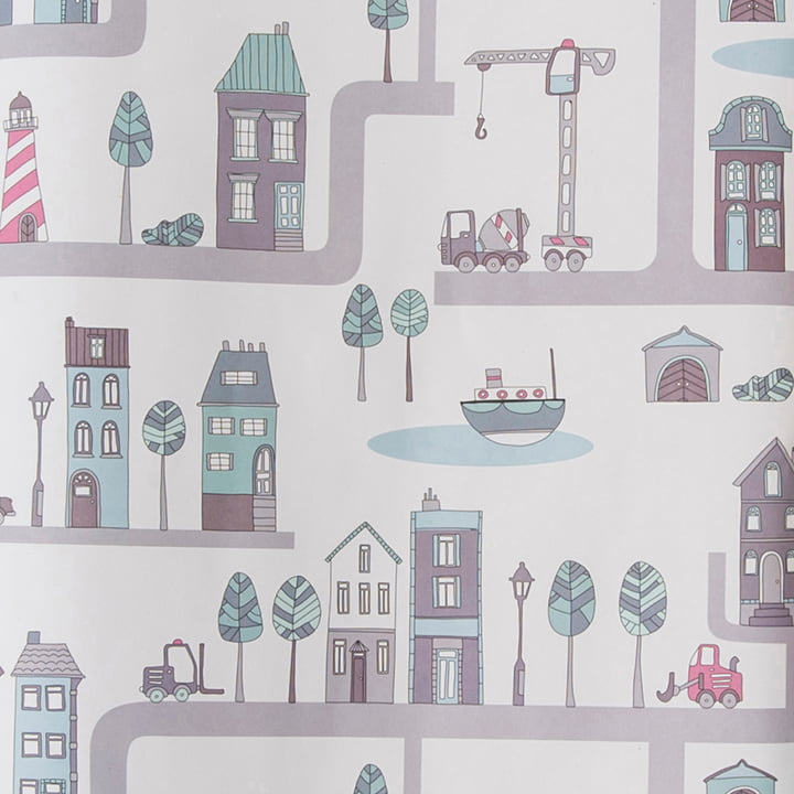 Wrapping Paper Village for girls
