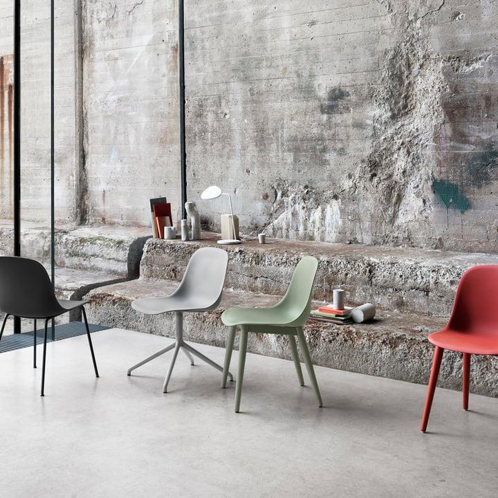 Muuto - Fiber Side Chair Wood variants
