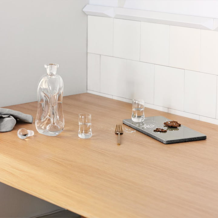 Gurgling glass carafe by Holmegaard