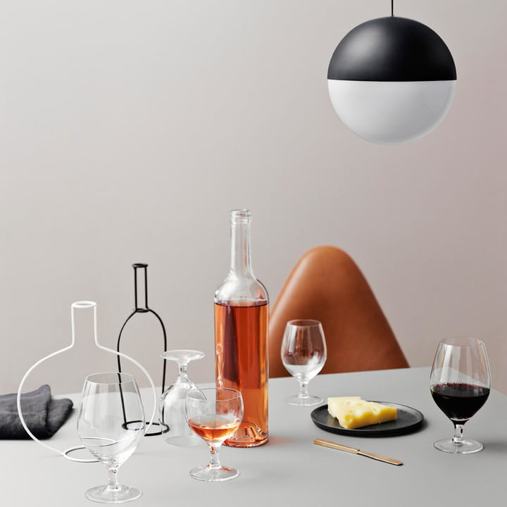 Glasses in the retro-look by Arne Jacobsen
