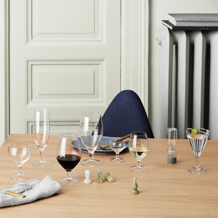 Royal drinking glasses from Holmegaard in retro-look