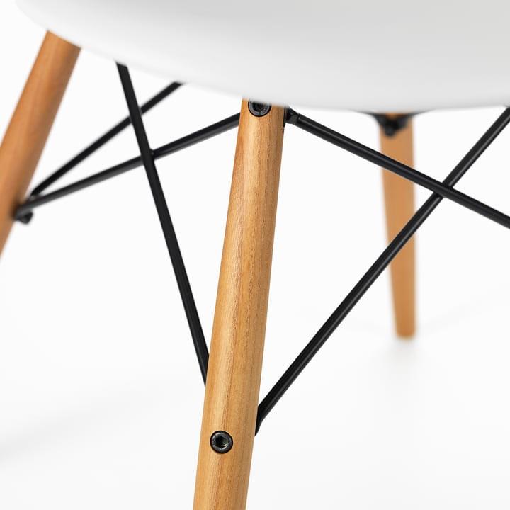 Vitra - Eames Plastic Armchair DAW, honey ash / white