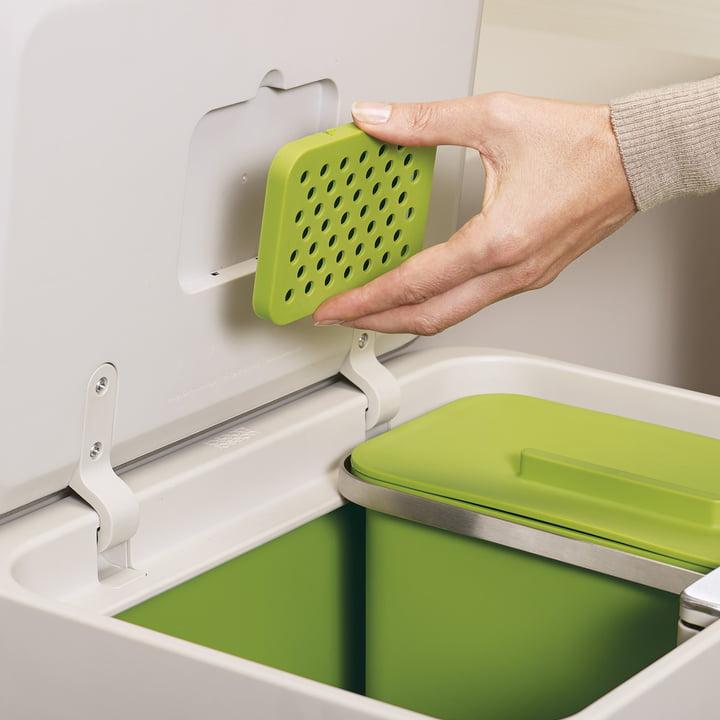 Charcoal filter for odour neutralisation
