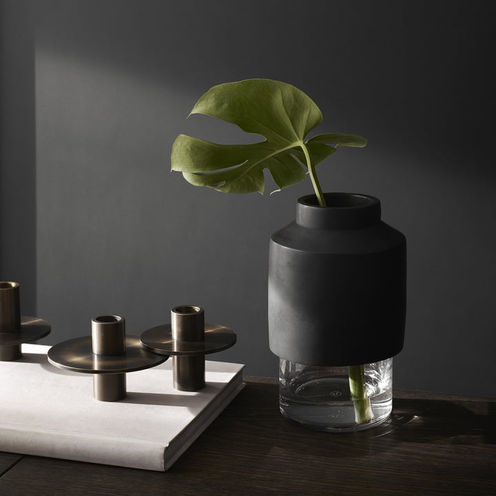 Menu - Antipode Candle Holder, 03, browned brass