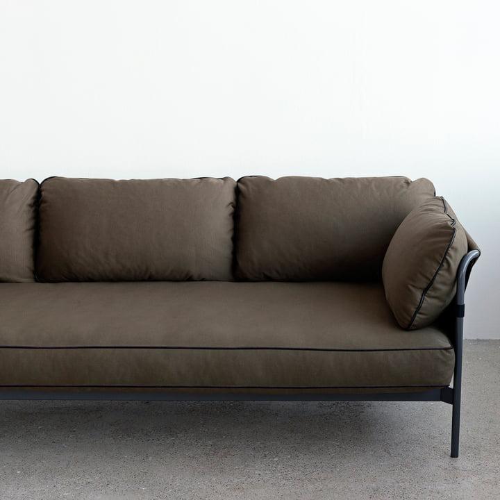 Hay - Can Sofa, 3-Seater, grey / canvas army / canvas army